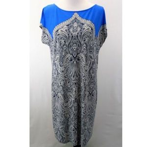 Adrianna Papell Size 10 Dress Knee Length Sheath